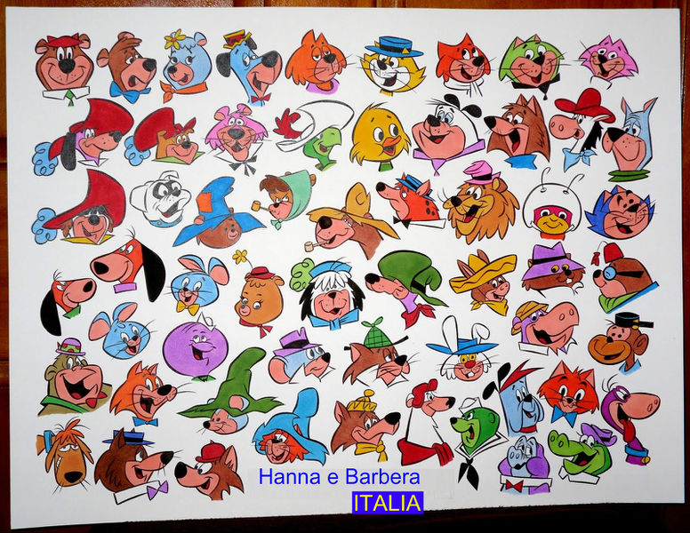 Hanna Barbera Car Race Cartoon